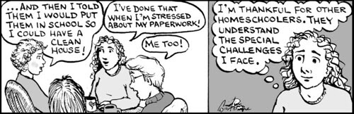 Home Spun comic strip #554