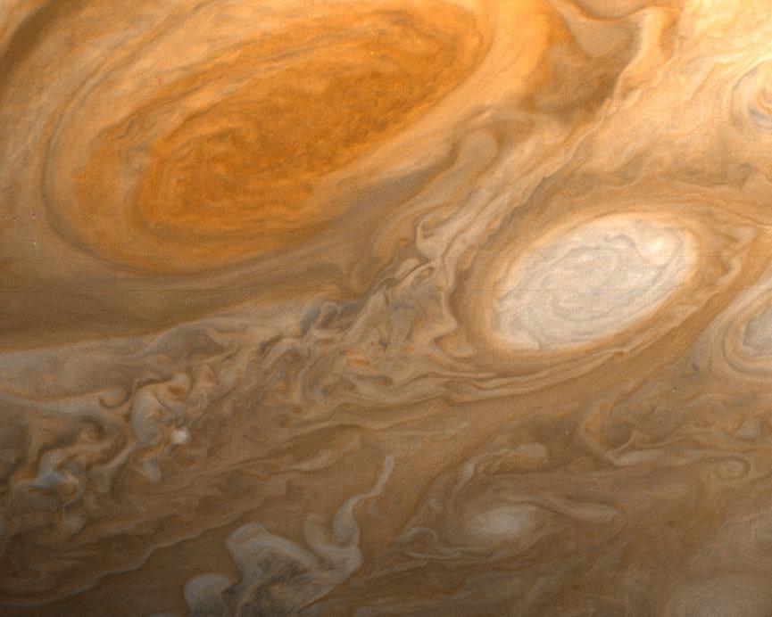 Jupiter's Red Spot, seen by Voyager 1. Image credit: NASA/JPL