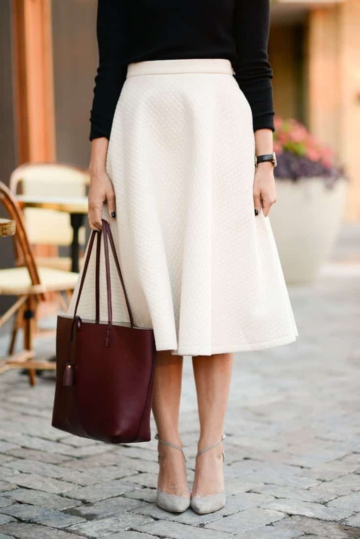 midi skirts outfits16 cute outfits to wear with midi skirts