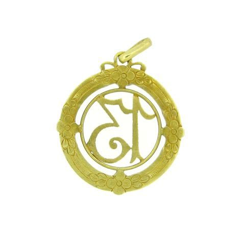 Antique French Lucky 13 charm or pendant, 18kt yellow gold