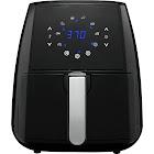 Gourmia Digital Air Fryer - Black/Silver - 4.5 Qt Capacity