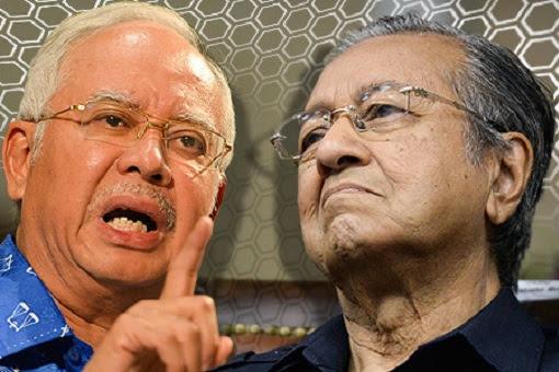 Najib Razak vs Mahathir Mohamad