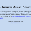 Tips to Prepare for a Surgery - Adidarwinian