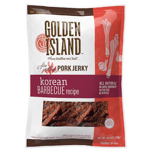 Golden Island Pork Jerky Korean Barbecue Recipe - 14.5 oz bag