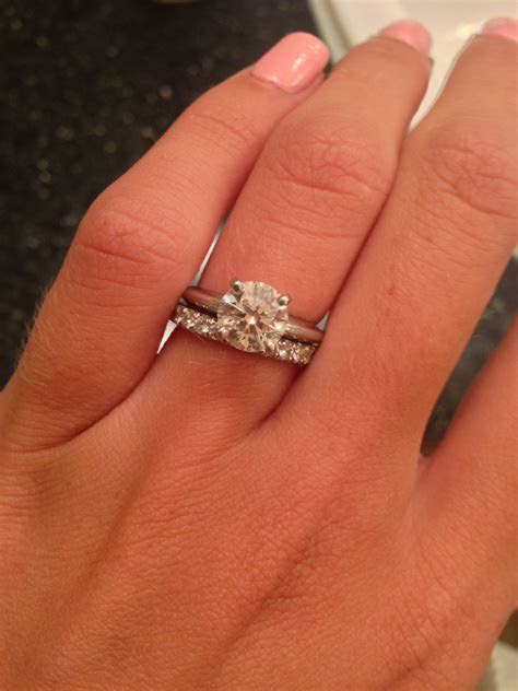Show off your 1.5 carat center stone diamond engagement