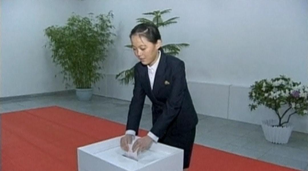 Kim Yo Jong, the younger sister of North Korean leader Kim Jong Un.