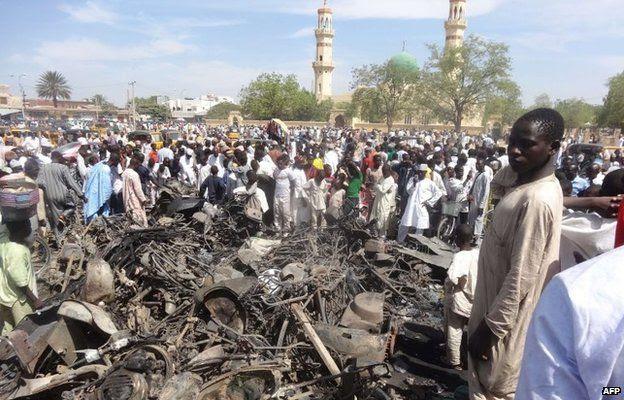 Ataque em mesquita em Kano, na Nigéria, em 2011 | Foto: AFP