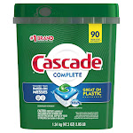 Cascade Complete Dishwasher Detergent Actionpacs, 90-count