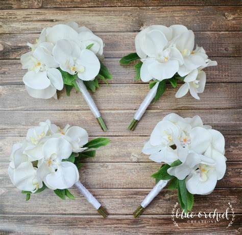 Bridesmaid Bouquet, Wedding Flowers, Orchid Bouquet, Silk