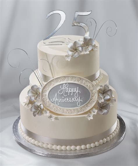 25th Wedding Anniversary cake, silver anniversary   Cakes