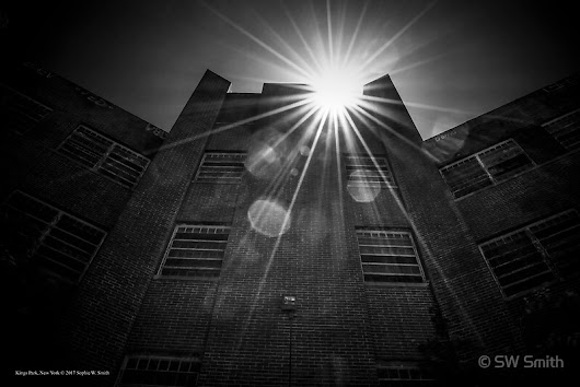 'Sun Rays Above An Abounded Building | Kings Park, New York'  by © Sophie W. Smith