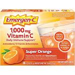 Emergen-C Super Orange Vitamin C Supplements Daily Immune Support Drink Mix, 30 Count