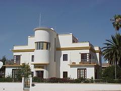 Beautiful Art Deco building, former Villa, Asmara, Eritrea