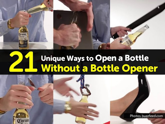Hacks To Open A Bottle Without A Bottle Opener | How To Instructions