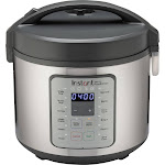 Instant - Zest Plus 20 cup Rice and Grain Cooker - Stainless Steel/Silver