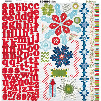 Bo Bunny Elf Magic Cardstock Sticker Sheet