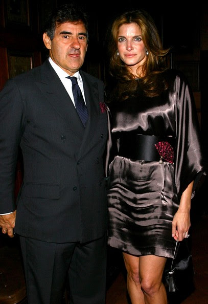 Peter Brant Model Stephanie Seymour (R) and Peter Brant attend 'Greeting