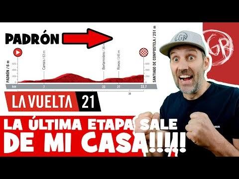 La última etapa de la VUELTA A ESPAÑA 2021 sale de MI CASA! - Alfonso Blanco