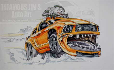 car club drawing infamous jims auto art sketches