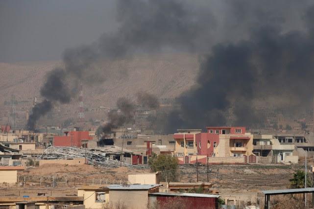 En Irak, l'offensive sur Mossoul est entrée dans... (photo REUTERS)