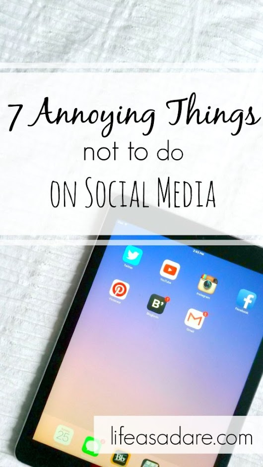 Annoying Things People Do on Social Media