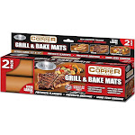 Gotham Steel Non-Stick Copper Grill and Baking Mat, Copper - 2 pack