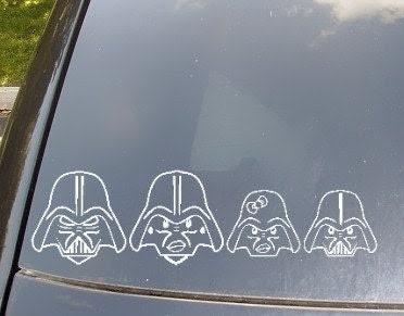 Darth Vader Family Car Sticker Set of 4