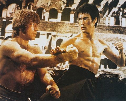 Chuck Norris v Bruce Lee in 'Way of the Dragon'
