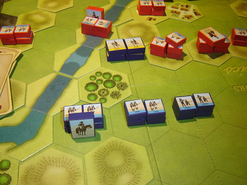French light cavalry cover advance on Vimiero