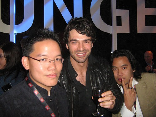 Me, Zahir and Luca Argentero