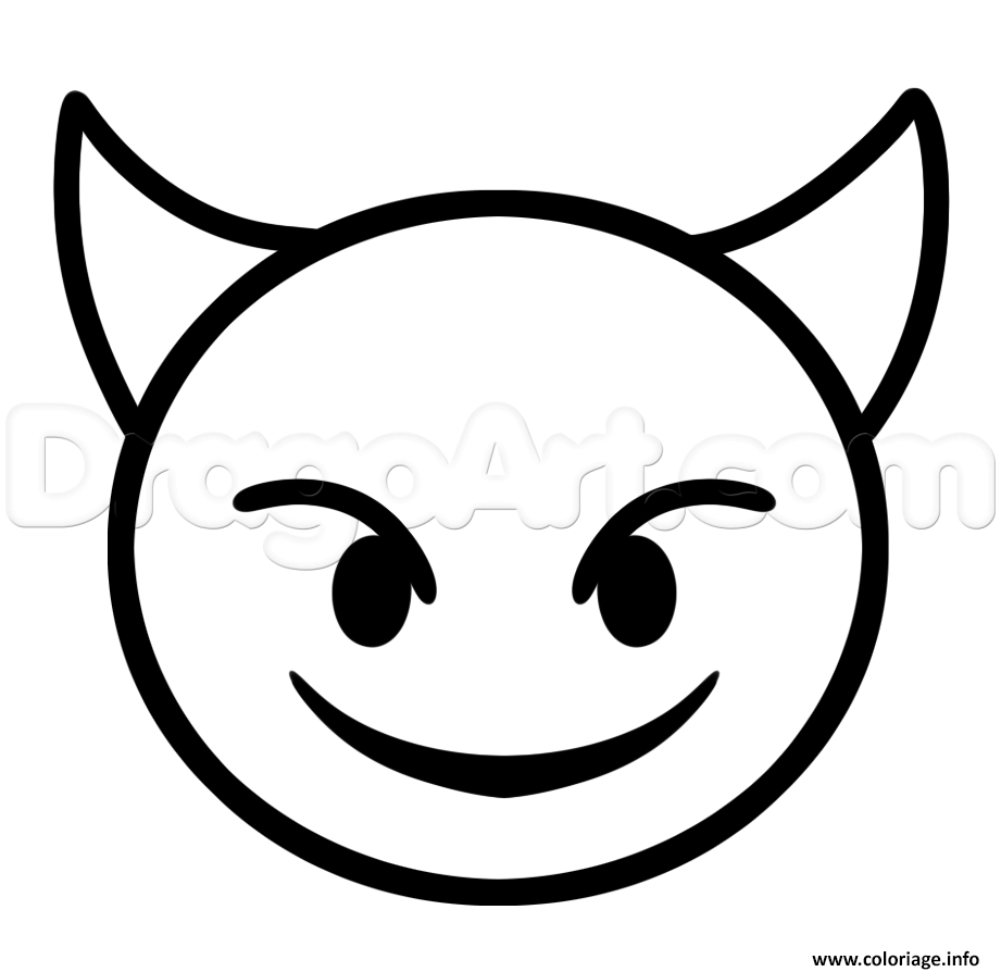 Coloriage diable emoji iphone