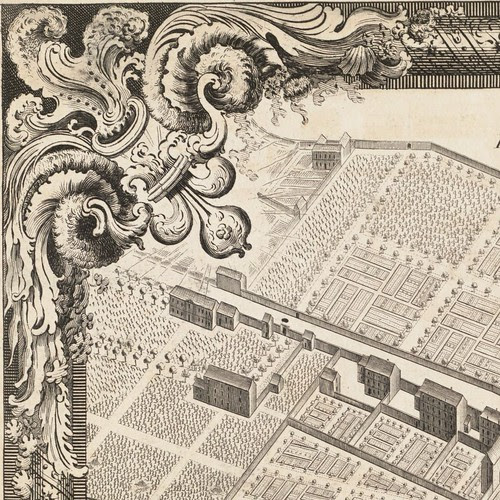 Plan de Paris by Louis Bretez + Claude Lucas 1739 sequence 4 (detail)