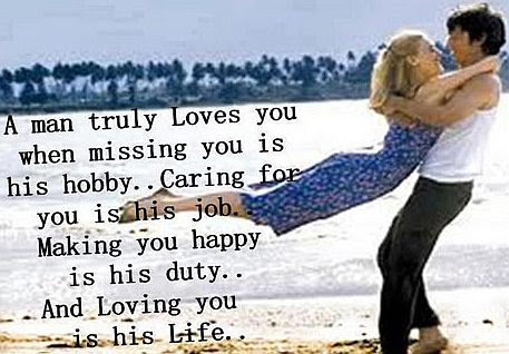 A Man Truly Loves You Quote Picture