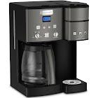 Cuisinart 12-Cup Coffee Maker & Single-Serve Brewer, Black