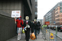 Anonymous Protest - 15th March 2008 - Queen Vi...