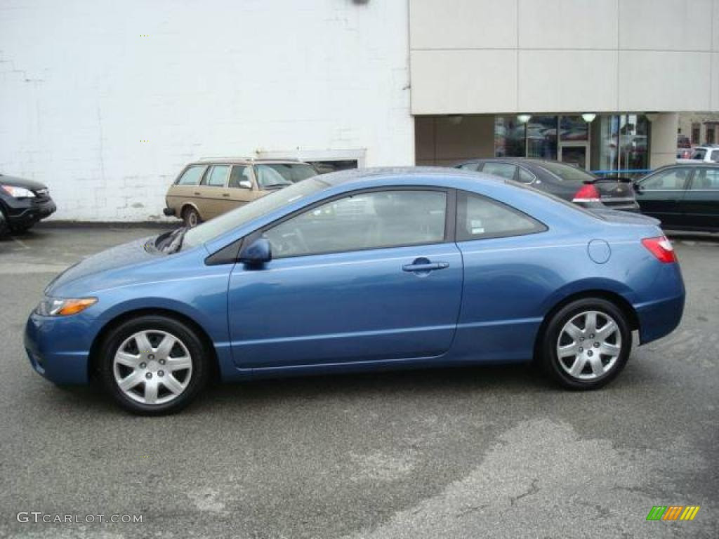 2006 Atomic Blue Metallic Honda Civic Lx Coupe 7133611 Gtcarlot
