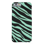 Mint Green Zebra Striped Barely There iPhone 6 Case
