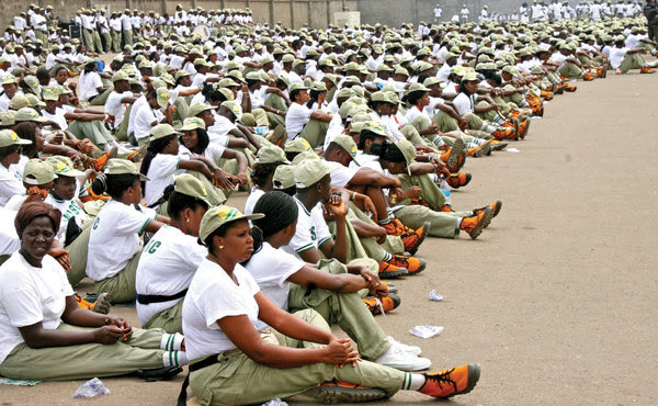NYSC members during Orientation Course(PHOTO: Online)