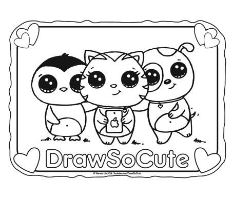 free selfie coloring page  draw so cute
