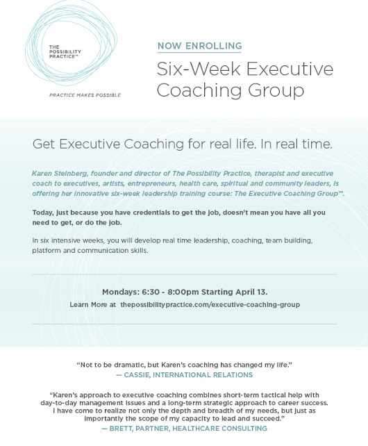 Executive Coaching Group  - Possibility Practice
