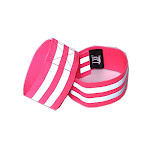 LW Reflective Ankle Band Wristband (Pair) with Bonus Reflective Sticker (Ankle Band - Pink)