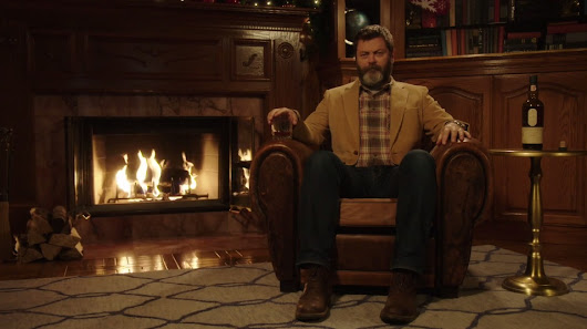 Here's 45 Minutes Of Nick Offerman Quietly Sipping Whisky