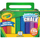 Crayola Washable Sidewalk Chalk, Assorted Bright Colors - 48 count