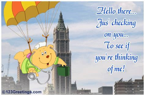 Checking On You  Free Hi eCards, Greeting Cards   123