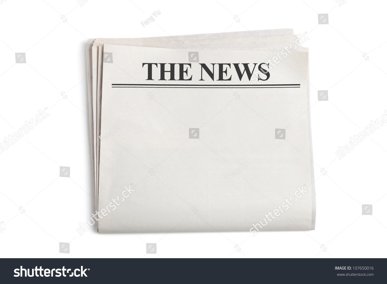 Blank Newspaper White Background Stock Photo 107650016 - Shutterstock