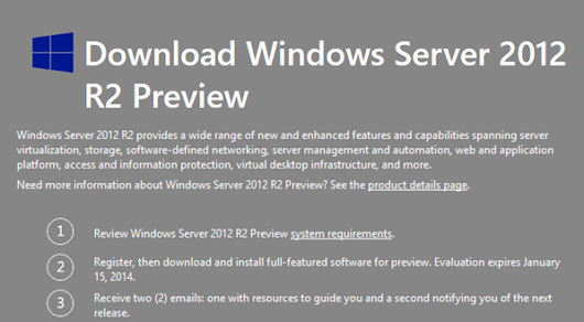 Microsoft Windows Server 2012 R2 Preview available for Public Download | Techsurface