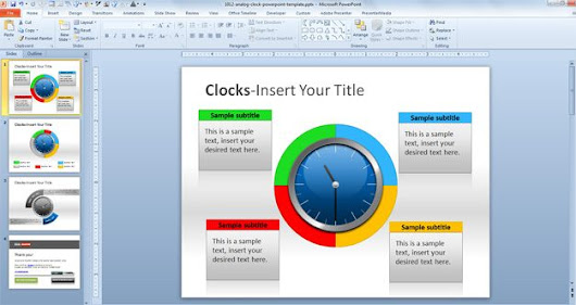 Analog Clock PowerPoint Template
