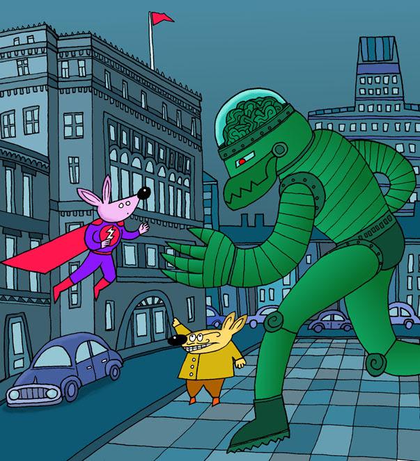 Hypermouse vs The Green Robot