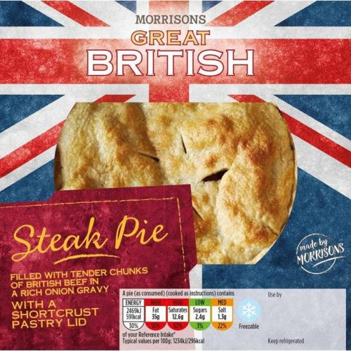 Morrisons Great British Pies 550g Was £3.48 Now £2 ...