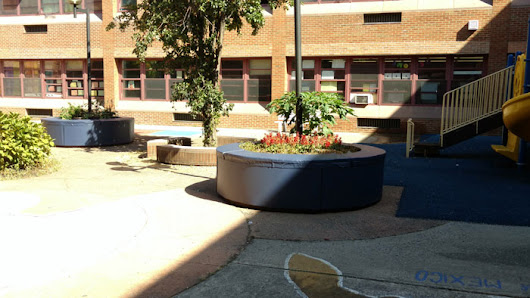 Custom Padding for Large Planters in New York City Park